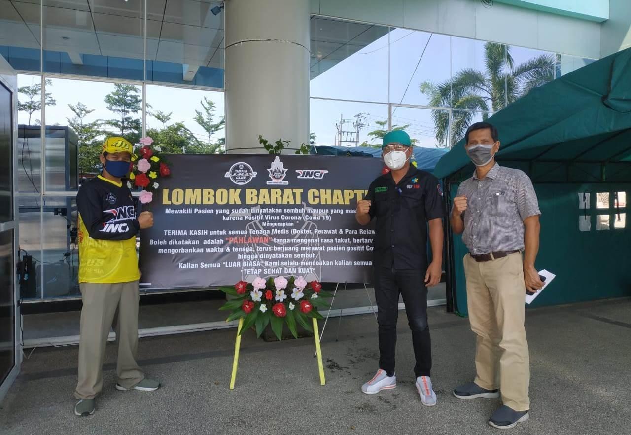 YNCI Lombok Barat Pacu Semangat Petugas Medis Melawan Corona