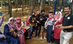 Isi Libur Panjang, AOC (Aerox Owners Club) Sukabumi Lantik Member Baru dan Baksos Masker