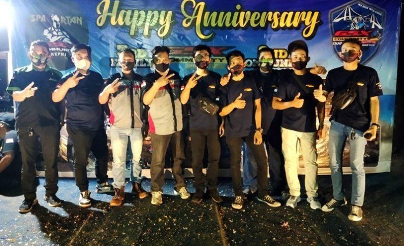 Perayaan HUT ke-2 GSX Community Nusantara (GCN) Kepri Dihadiri Ketumnas