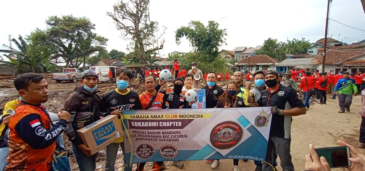 YNCI Salurkan Bantuan untuk Korban Bencana Banjir Bandang Sukabumi