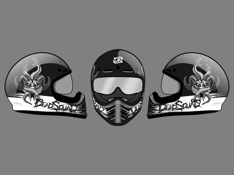 Helm JP Signature Special Edition Hasil Kolaborasi Bareng Band Metal DeadSquad Segera Dirilis