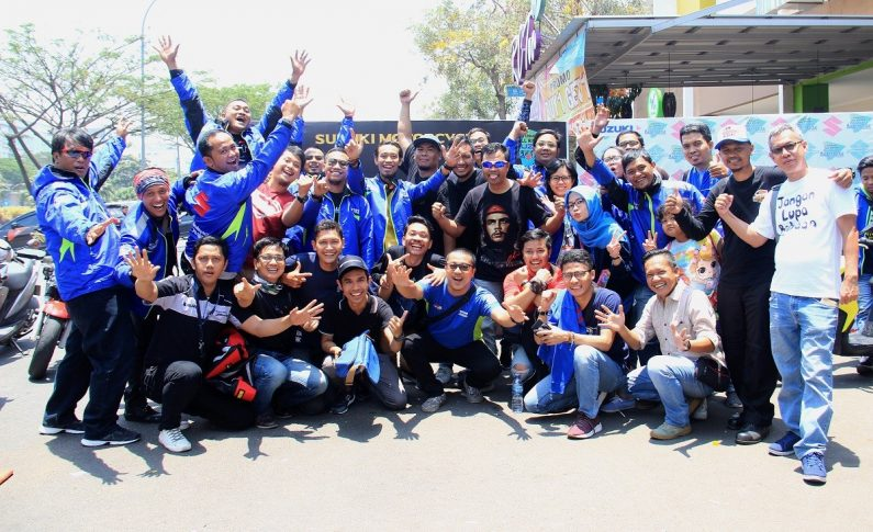 Deklarasi Come On Suzuki Motor Indonesia (Cosmic) Disaksikan Ribuan Bikers