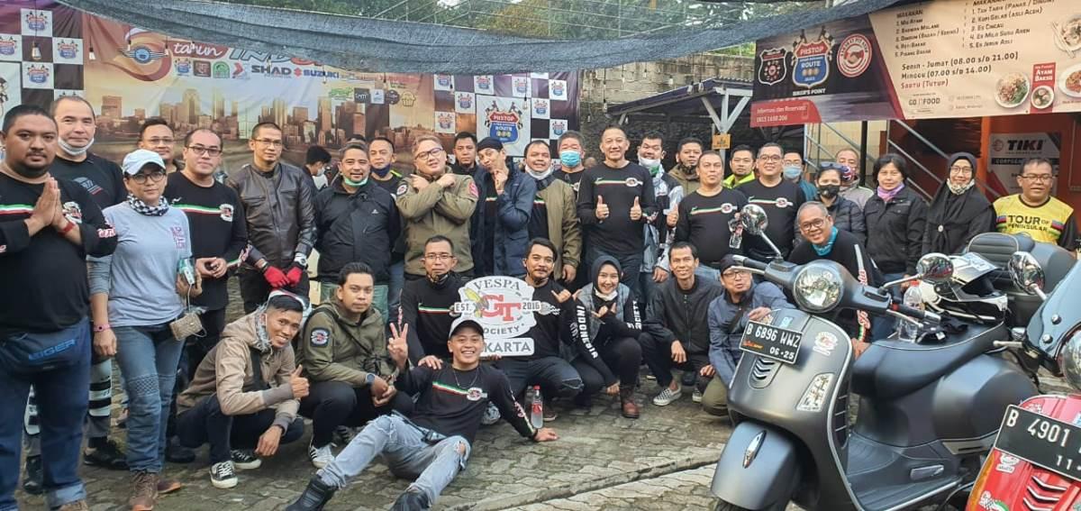 Galeri Foto: Keseruan Peresmian General Team Vespa Society (GTVS) Jakarta