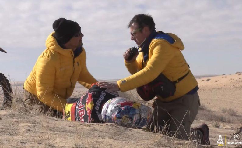 Kecelakaan, Sam Sunderland Tinggalkan Rally Dakar Arab Saudi 2020