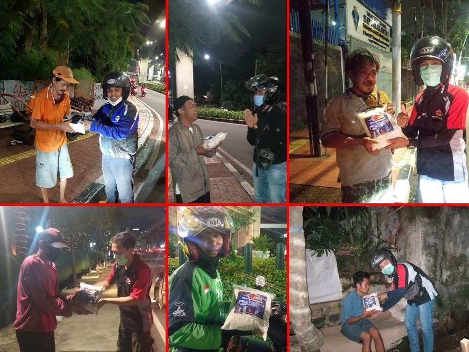 Aksi Sosial Bikers Suzuki Satria F150 Club (SSFC) di Jakarta